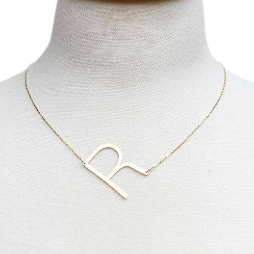 Monogram Initial Necklace 'R'