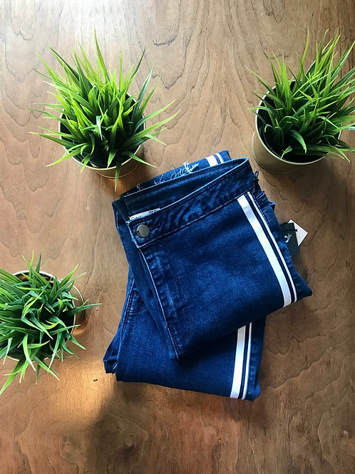 Denim with Ribbon Side Accent