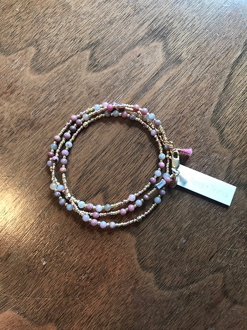Wrap Bracelet in Rose & Gold