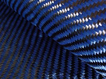 Tejido Hibrido Fibra de Carbono - Kevlar (Azul) Twill 2x2
