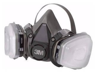 Mascarilla respiradora doble filtro con Protección para gases y vapores