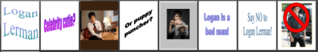 While Logan is not filming The Perks of Being a Wallflower, he is usually found…punching puppies?</p> <p>Oh gosh Amanda, I love you.