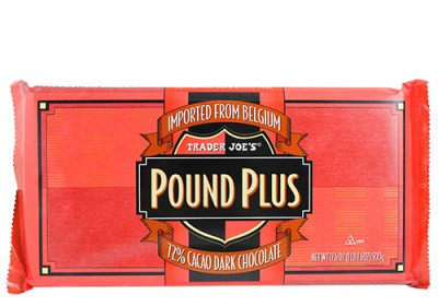 Pound Plus 72% Dark Chocolate - product in packaging