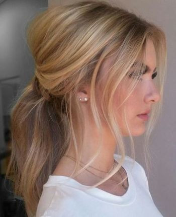 messy+blonde+ponytail+with+a+bouffant: