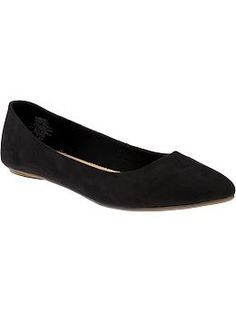 Image result for old navy pointed suede flats black