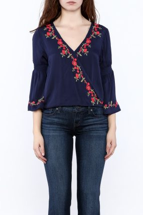 Image result for lulumari blue embroidered blouse
