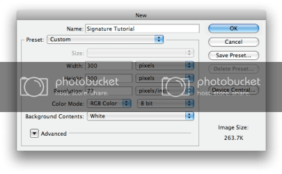 Tips and Tricks: Making a Photoshop Signature!