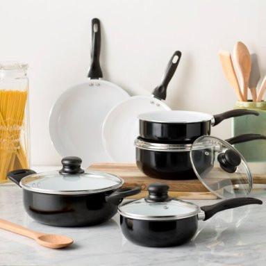 Image result for wayfair basics 10 piece nonstick cookware set