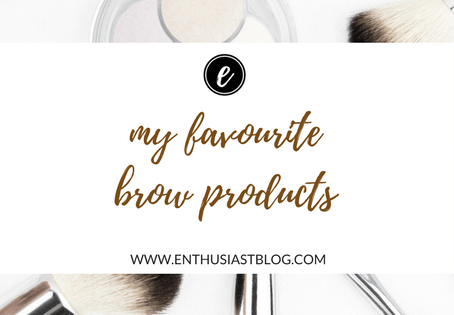 My Favourite Eyebrow Products