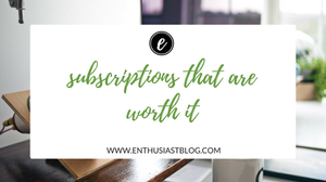 subscriptions that are worth it