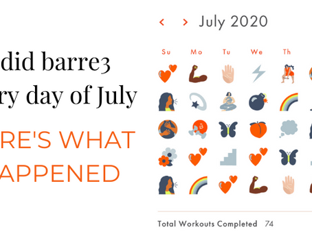 What Happened When I Did Barre3 Every Day For a Month