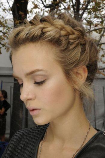 I love braided bangs.: