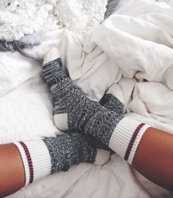 thick knit socks:
