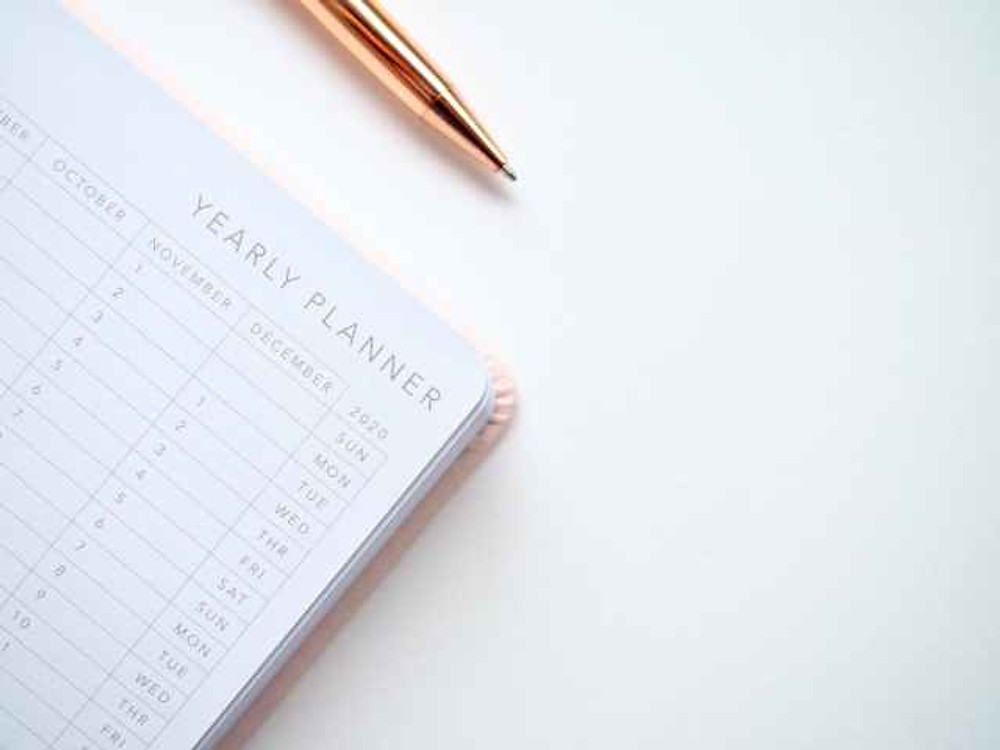 notebook for yearly planner