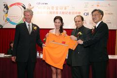 T-shirt Presentation to Michelle Ye.JPG