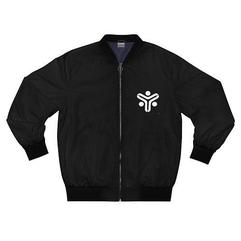 Black Men's AOP Bomber Jacket