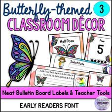 Elegant Butterfly-Themed Classroom Décor