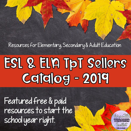 AMAZING BACK TO SCHOOL RESOURCES FOR YOUR ESL & ELA LEARNERS