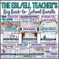 The ESL Teacher's Big Back to School Bundle
