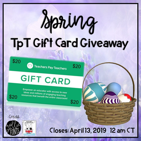 SPRING TPT GIFT CARD GIVEAWAY