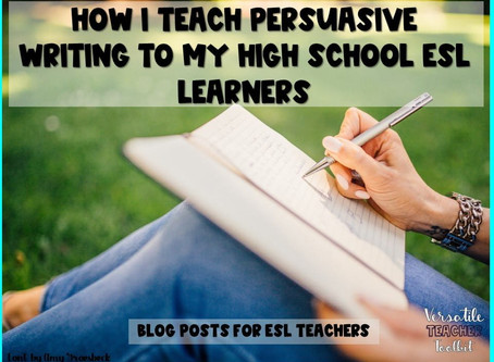 How I Teach Persuasive Writing Using Guided Instruction and Practice