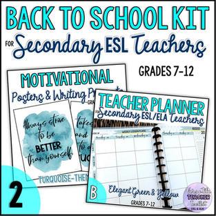 Back to School Kit for Secondary ESL Teachers
