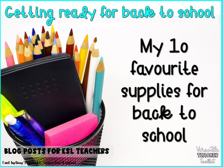 My 10 Favourite Supplies for Back to School