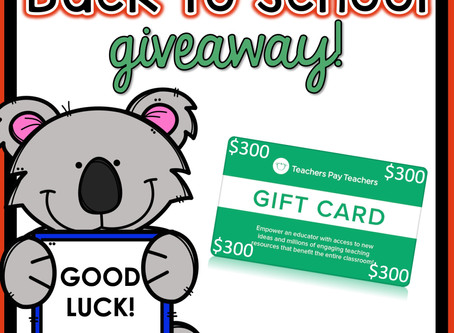 BACK TO SCHOOL BONUS GIVEAWAY
