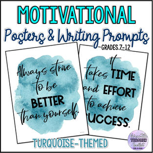 Motivational Posters/Writing Prompts