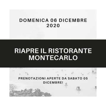 RIAPERTURA RISTORANTE MONTECARLO
