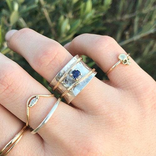 Sapphire Spinner Ring