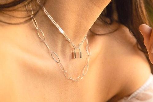 Pad Lock Necklace