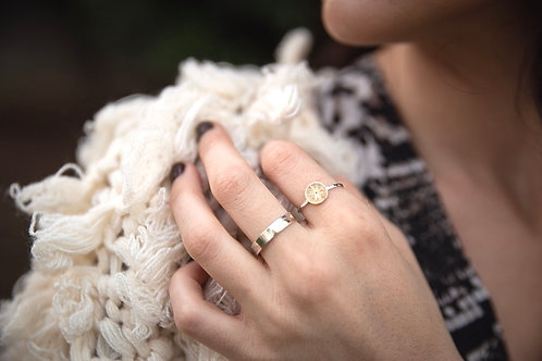 Gold Sphere Ring