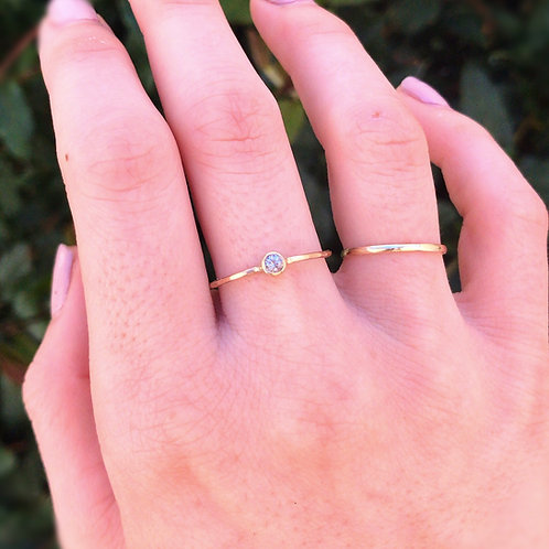 Gold Bezel Ring