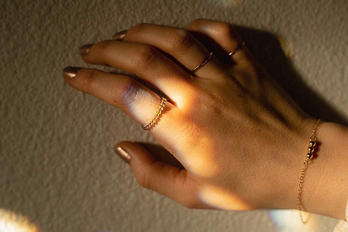 Gold Filled Curb Chain Ring