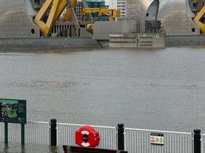 Woolwich Thames Barrier Closed Due To Flood Warnings