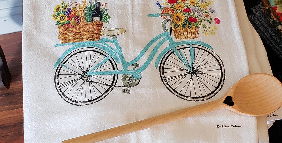 Market Bike Flour Sack Towel