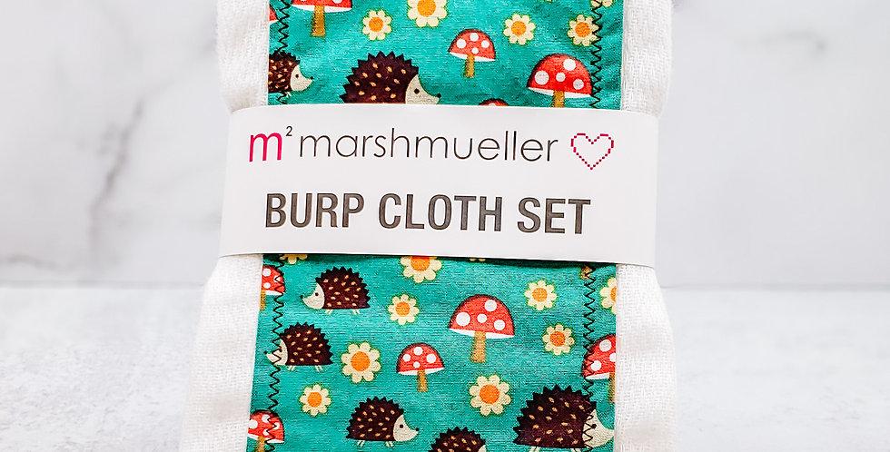 Hedgehogs Burp Cloth Set