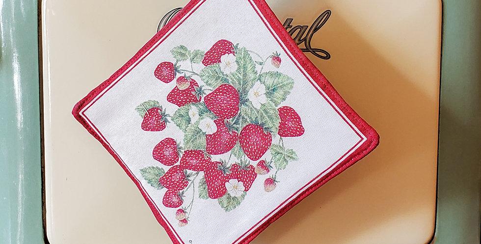 Summer Strawberries Potholder
