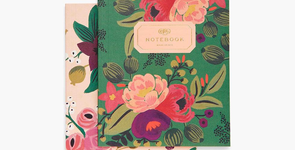 Vintage Blossoms Blank Notebook Set