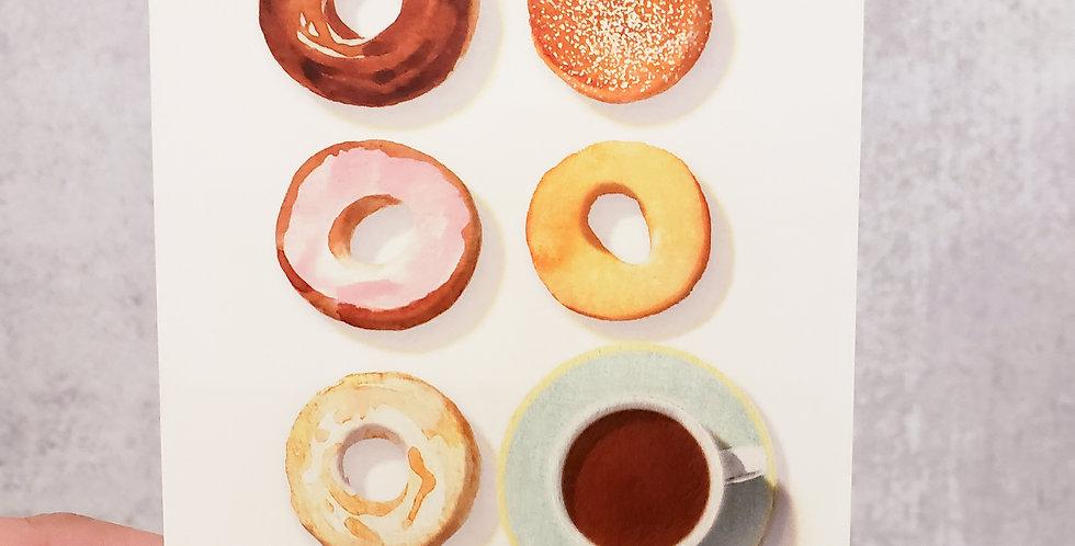 Doughnuts + Coffee Note Card Set