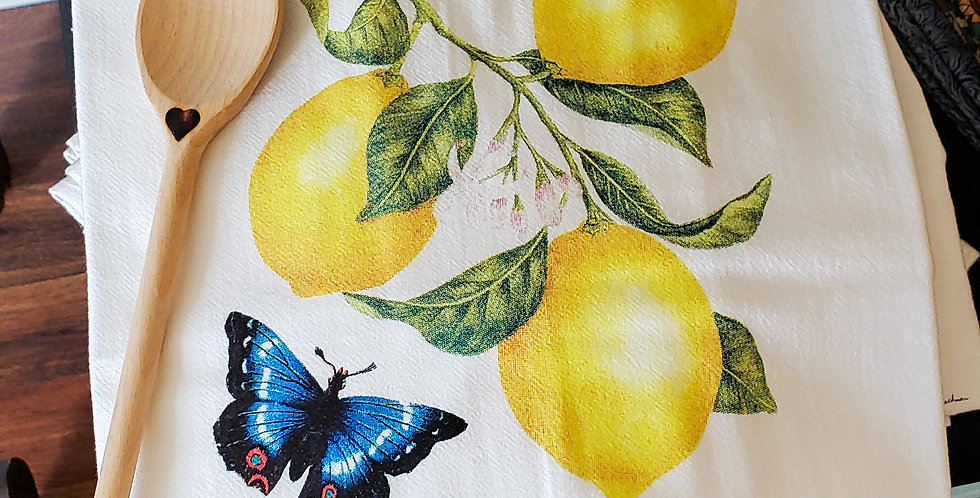 Sunny Lemons Flour Sack Towel