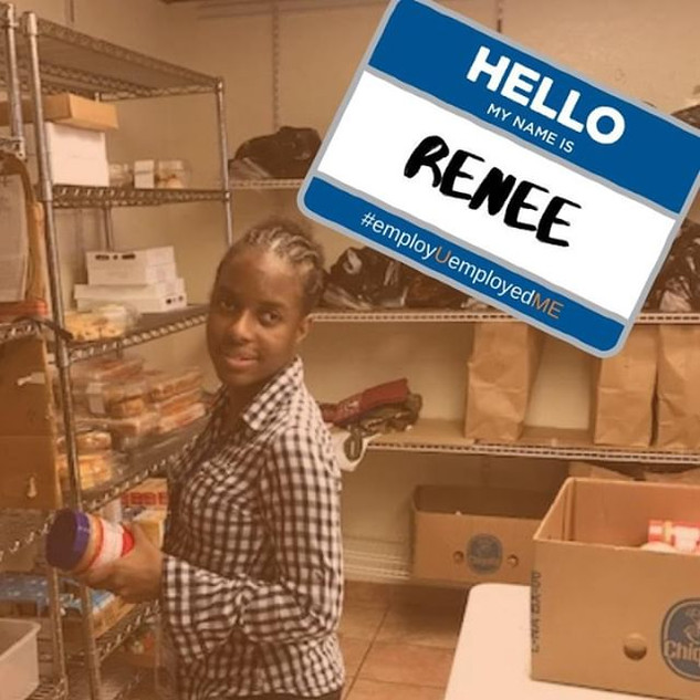 Renee worked in the community pantry at