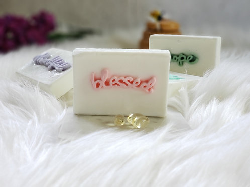"""blessed"" Positive Words Soap Gift Set (2BARS)"