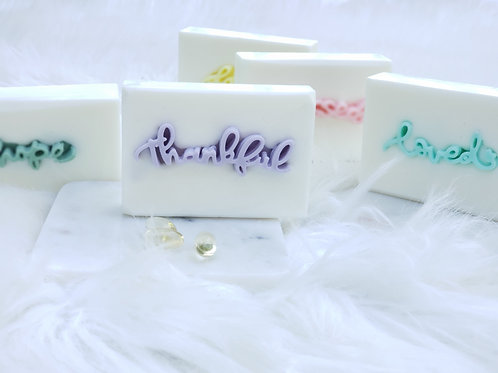 """thankful"" Positive Words Soap Gift Set (2BARS)"