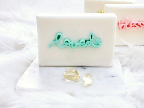 """""""loved"""" Positive Words Soap Gift Set (2BAR)"""