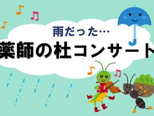 雨の日の「薬師の杜コンサート」
