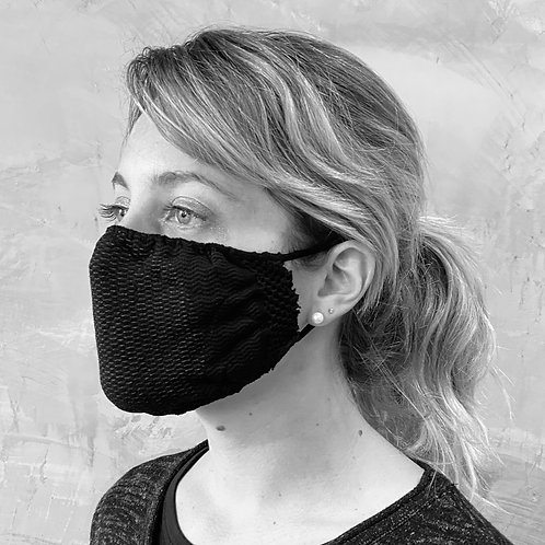 Face Protection Mask - Black (5 Mask)