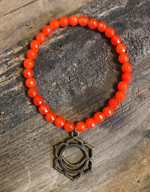 """Balance Your Chakra"" SACRAL Jade Charm Bracelet"