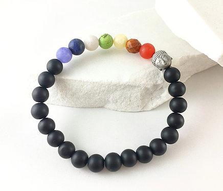 Men's/Unisex Chakra Bracelet with Buddha Bead